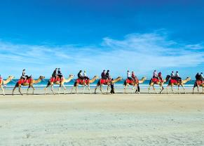 Camel Ride on Cable Beach in Broome, Australia