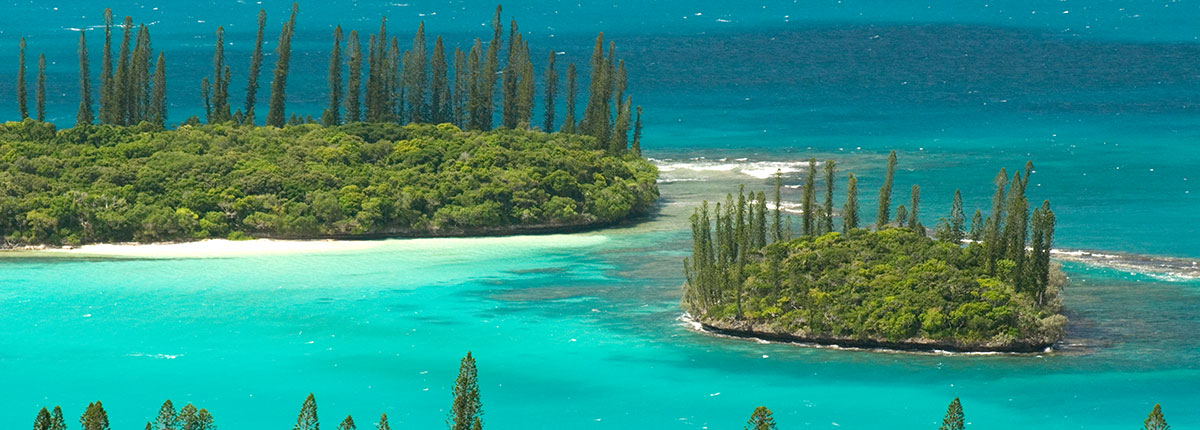 Aerial view of Isle of Pines, New Caledonia