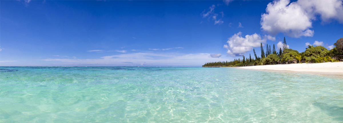 Stunning clear waters of Mare, New Caledonia