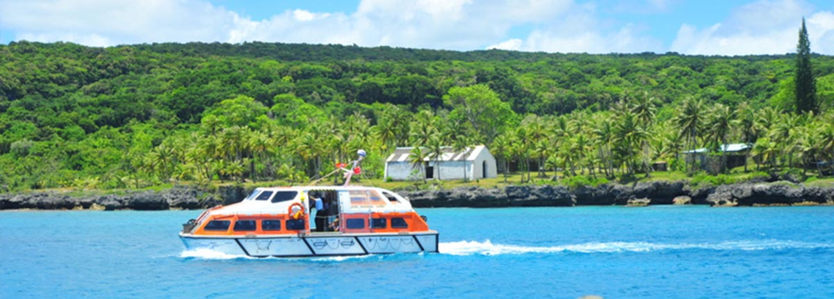 Water shuttle ride to Mare, New Caledonia