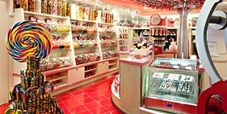 Plenty of lolly and chocolate choices at the Cherry on Top lolly shop on a Carnival cruise.