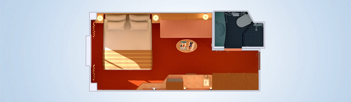 carnival legend ocean view stateroom floorplan