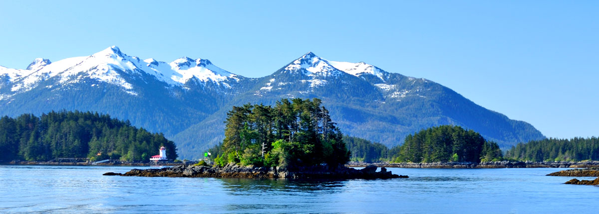 Picturesque mountains in Sitka, Alaska