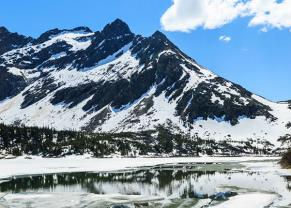 breathtaking view of upper dewey lake in skagway