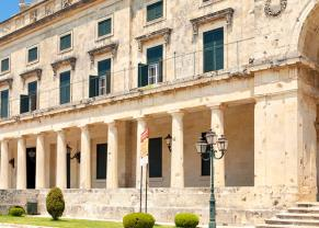 look at the european architecture in corfu