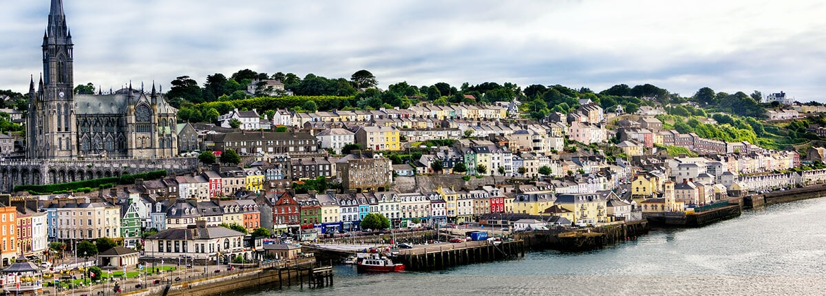 view of the village and seaport in cobh, ireland