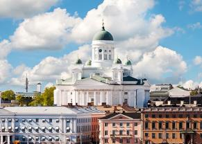 view of the helsinki cathedral university on a sunny day