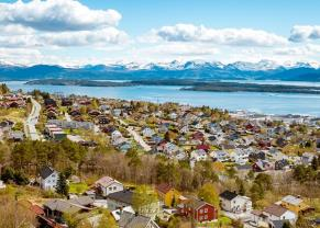 panorama view of the town of molde in norway