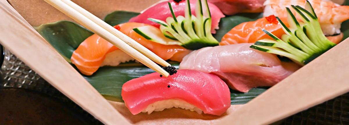 assorted sashimi rolls