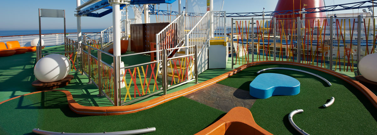 mini golf on carnival cruise lines
